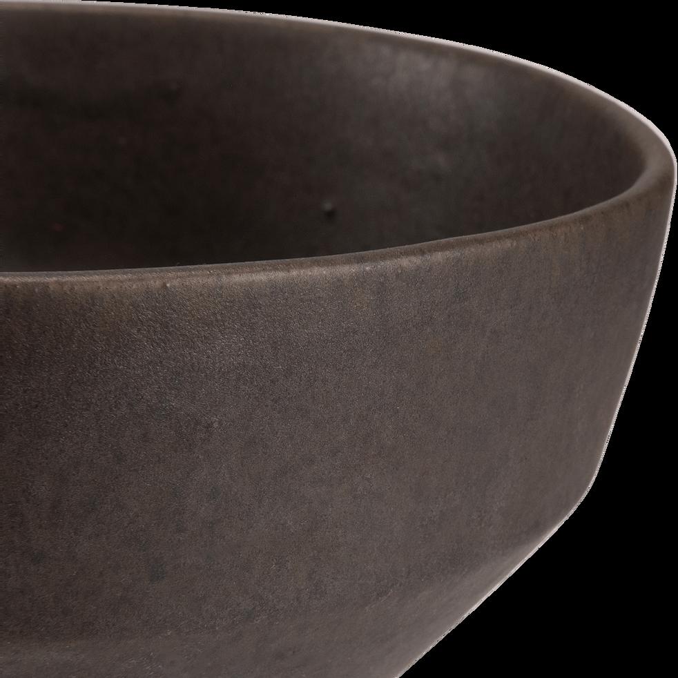Saladier en grès gris anthracite D16,5cm-ABYSSE