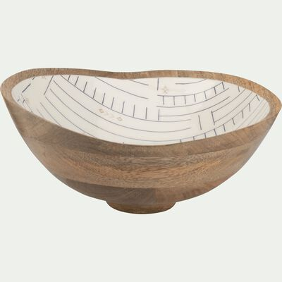 Saladier en manguier blanc D30cm-SOUK