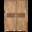 Armoire 2 portes coulissantes en acacia massif-GAIA