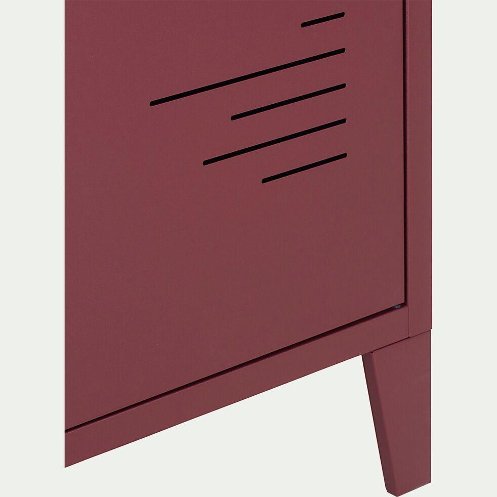 Armoire 1 porte en métal - H200xl50xP47,50 cm rouge sumac-LOFTER
