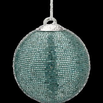 Boule perlée bleue D8cm-SANH