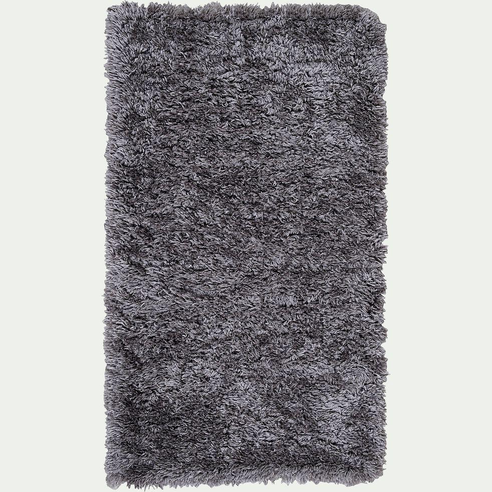 Tapis imitation fourrure - gris 60x110cm-mala