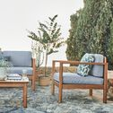 Fauteuil de jardin en acacia avec accoudoirs - naturel-CARLO