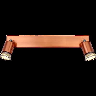 Spot en métal cuivré 2 lumières L40cm-ALFONSO