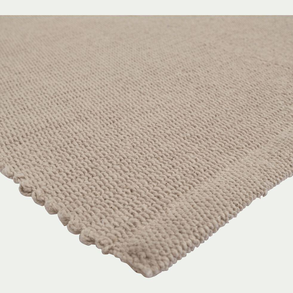Descente de lit en coton - beige roucas 50x80cm-CAMELIA