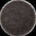 Tapis rond à poils longs gris D120cm-KRIS
