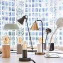 Lampe en bois clair H12,5xD9cm-PRAO