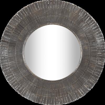Miroir rond avec pourtour en métal Brun calabrun-MYOR