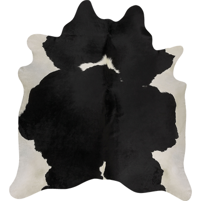 Tapis en peau de vache noir et blanc 140x200cm-HOLSTEIN