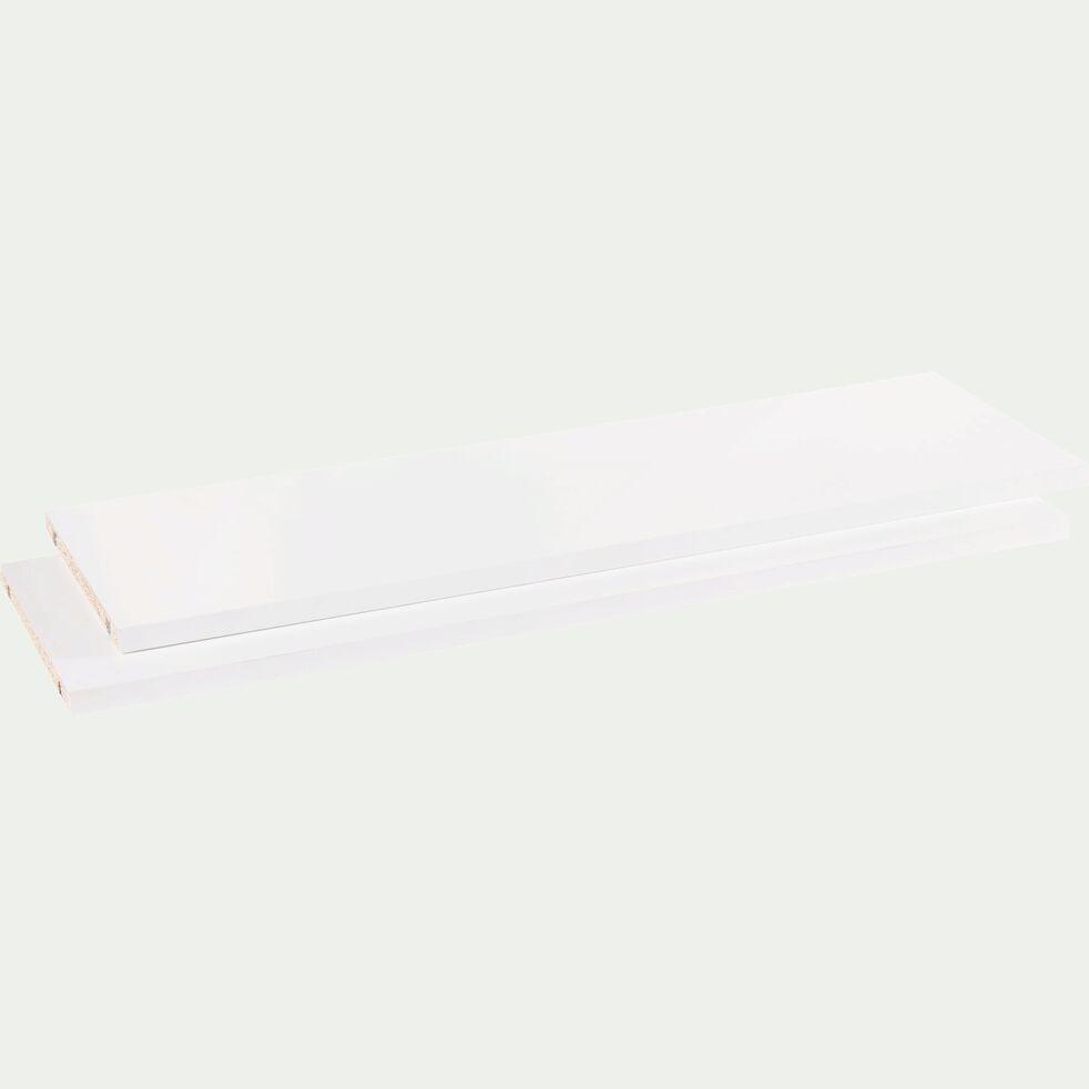 Lot de 2 tablettes coloris blanc L75cm-Biala