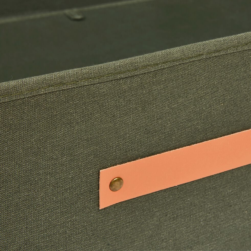 Housse de rangement en polycoton - vert cèdre H17,5xL50cm-ERRO
