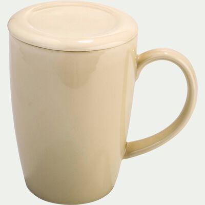 Tisanière avec filtre en faïence beige roucas 42cl-BIANCA