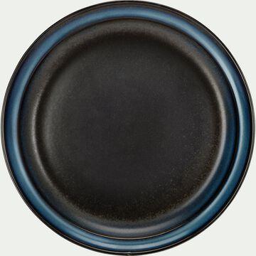 Assiette plate en porcelaine D23cm - noir-FERRU