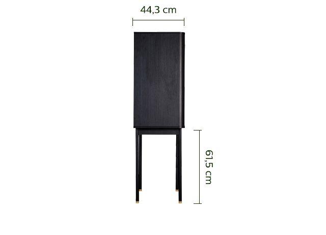 Cabinet noir 2 portes H139cm-FEREL