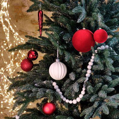 Boule de Noël en porcelaine blanche D9cm-ALPHANTE
