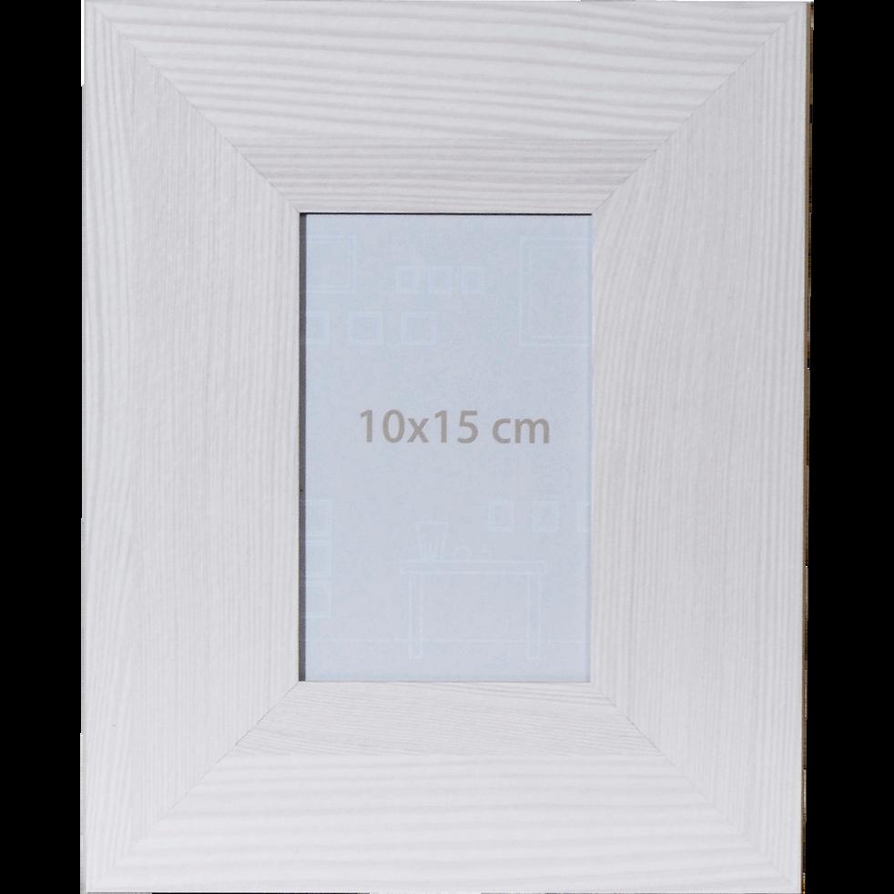 cadre photo effet bois blanchi 10x15cm - vera - déco - alinea