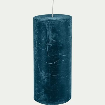 Bougie cylindrique coloris bleu figuerolles-BEJAIA