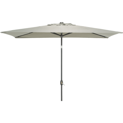 Parasol avec mat inclinable et manivelle vert olivier-MUY
