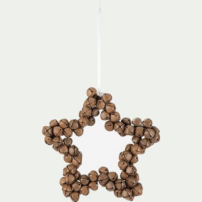 Suspension étoile grelots - D20xH4cm naturel-EUGENE