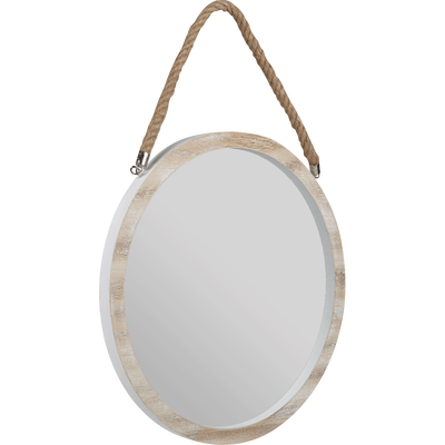 Miroir rond en bois D44,5cm-SABLE