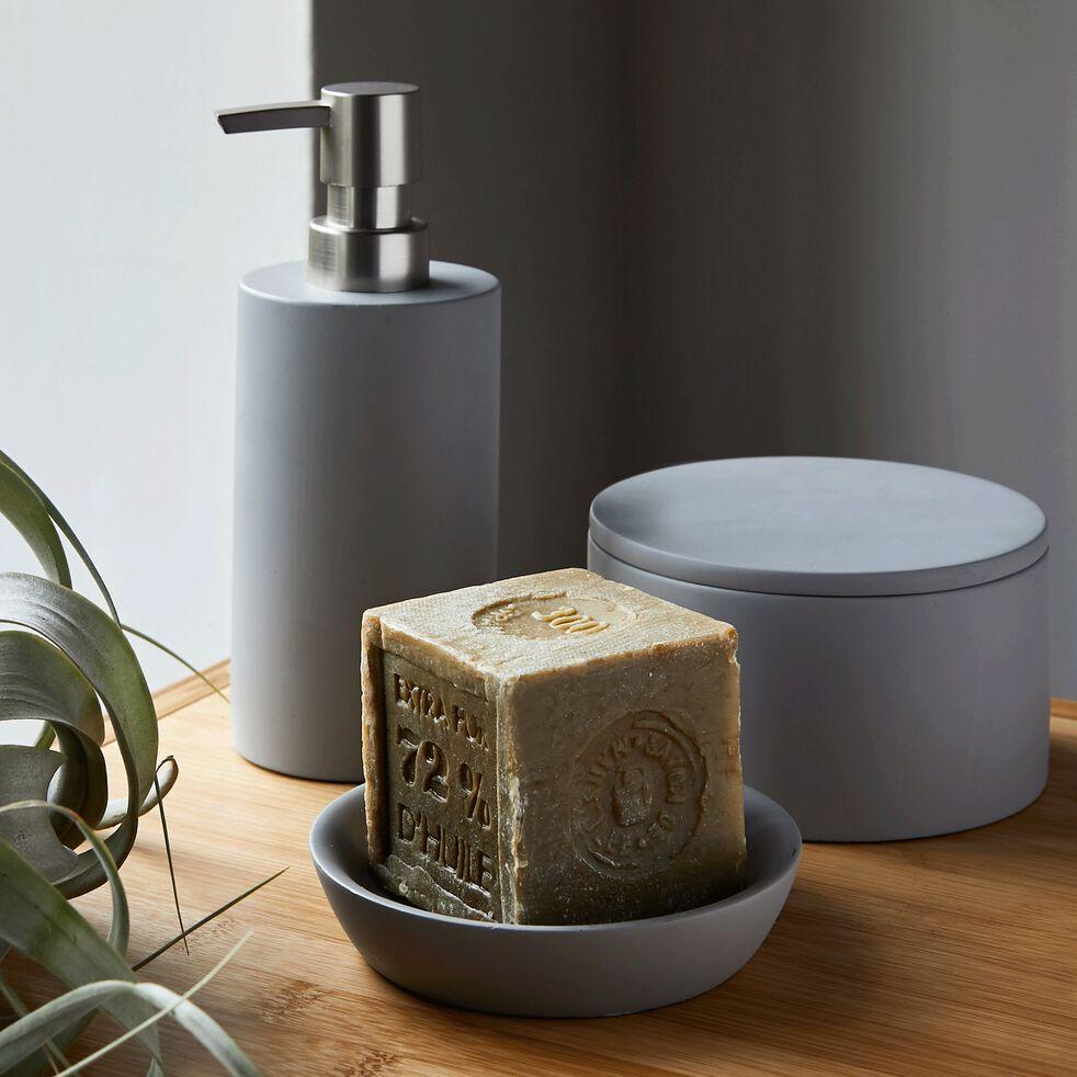 Porte-savon en ciment - gris restanque D11,7cm-BORY
