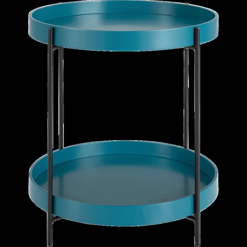 bout de canap rond double plateau bleu niolon arnavo bouts de canap alinea. Black Bedroom Furniture Sets. Home Design Ideas