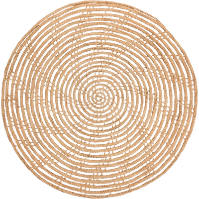 Set de table rond en fibre de palmier D35cm-ARAL