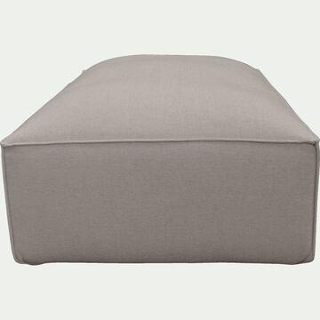 Petit pouf en tissu - L80xH40xl70cm beige alpilles-REVERE