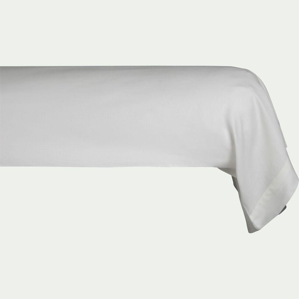 Taie de traversin rayée en satin de coton - gris borie 43x185cm-SANTIS