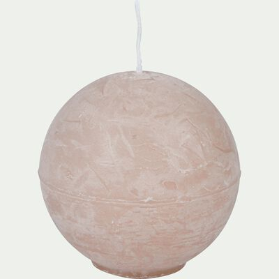 Bougie ronde rose sable D6cm-BEJAIA