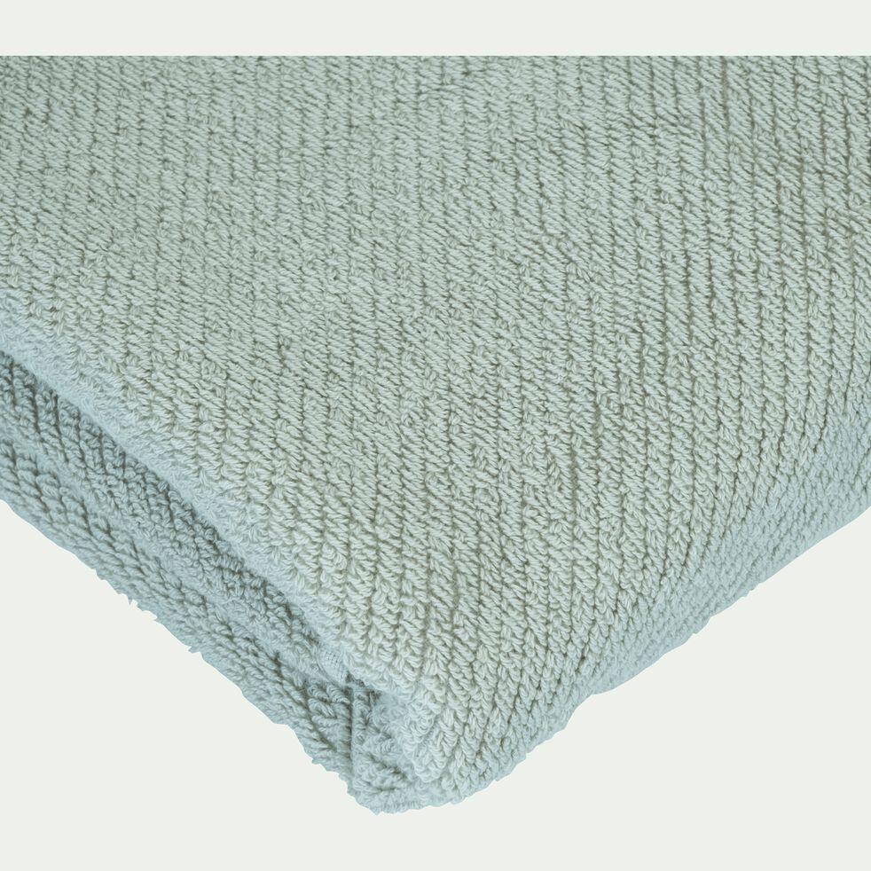 Serviette de bain bouclette en coton bio - vert olivier 50x90cm-COLINE