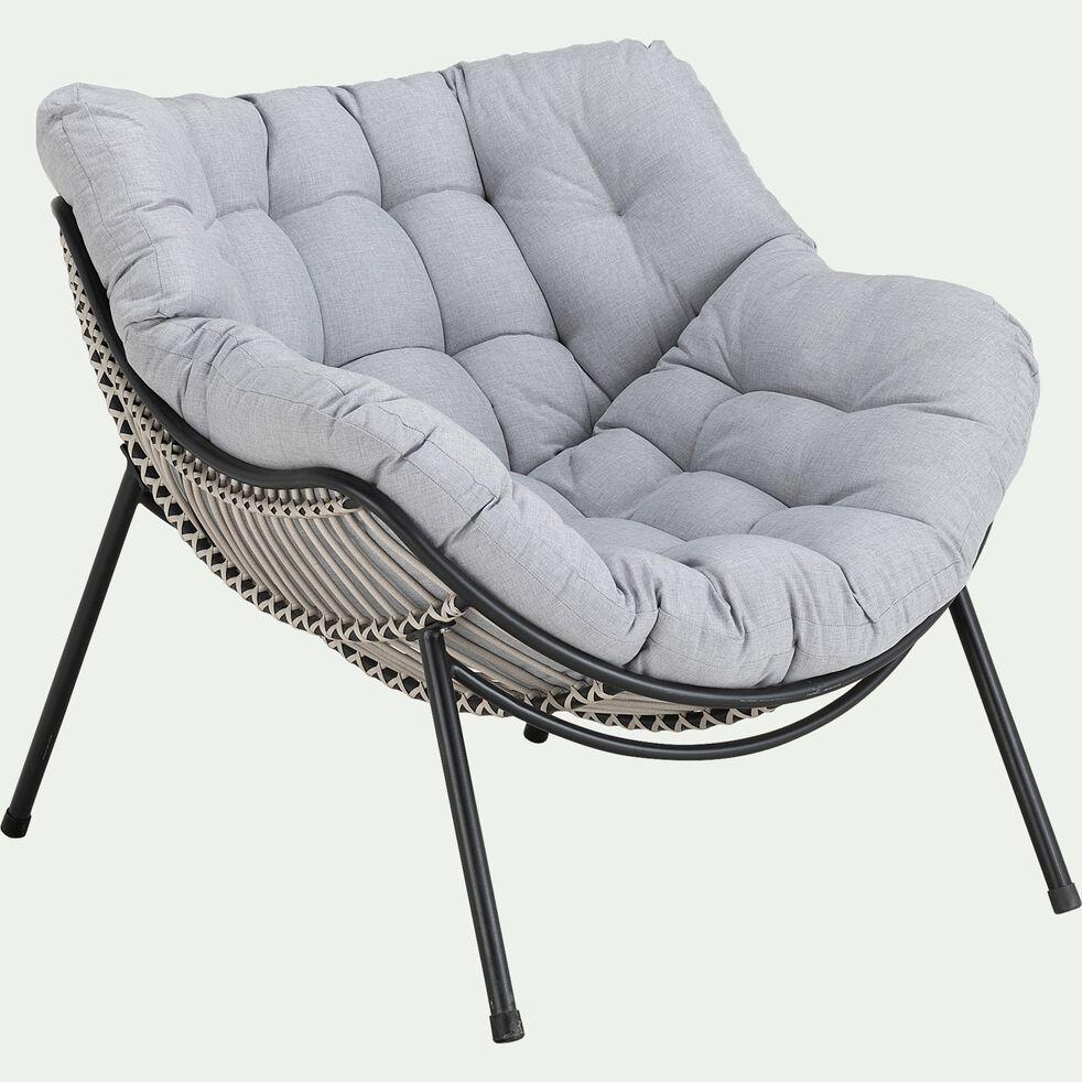 Fauteuil de jardin relax - gris borie-IBIZA