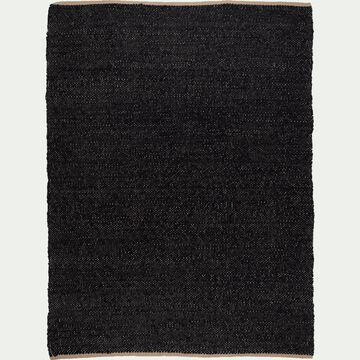 Tapis en jute - noir 160x230cm-ADAM