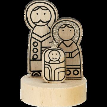 Famille sainte en bois H11cm-SANTOS