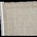 Fauteuil de jardin empilable gris clair en textilène-ELSA
