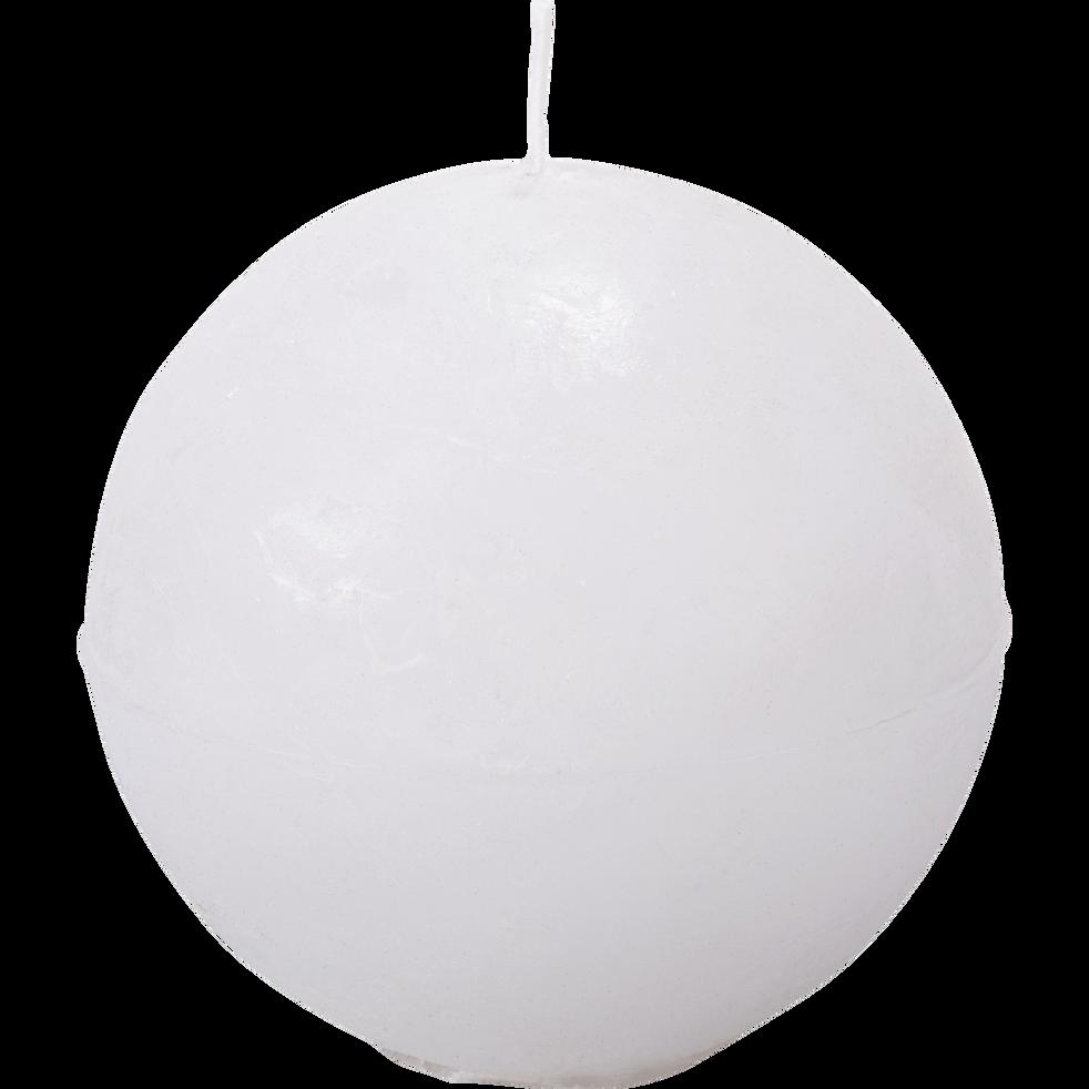Bougie ronde blanc capelan D10cm-BEJAIA