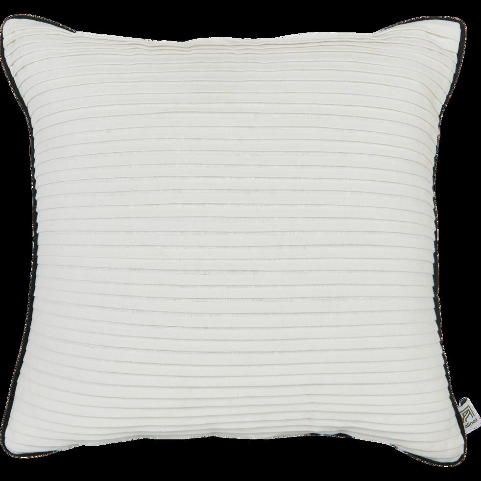 Coussin en lin et coton blanc 40x40cm-SORI