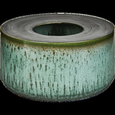 Cache-pot en céramique vert H9,5 cm-Brescia