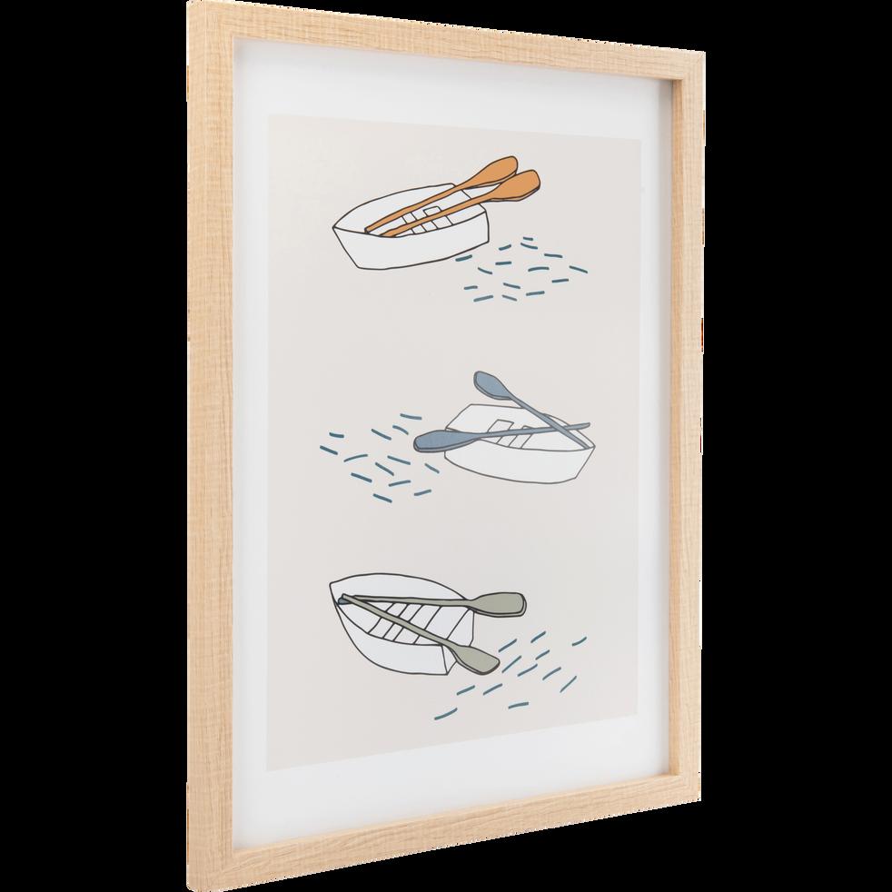 Image encadrée imprimée barques 30x40cm-VERONE