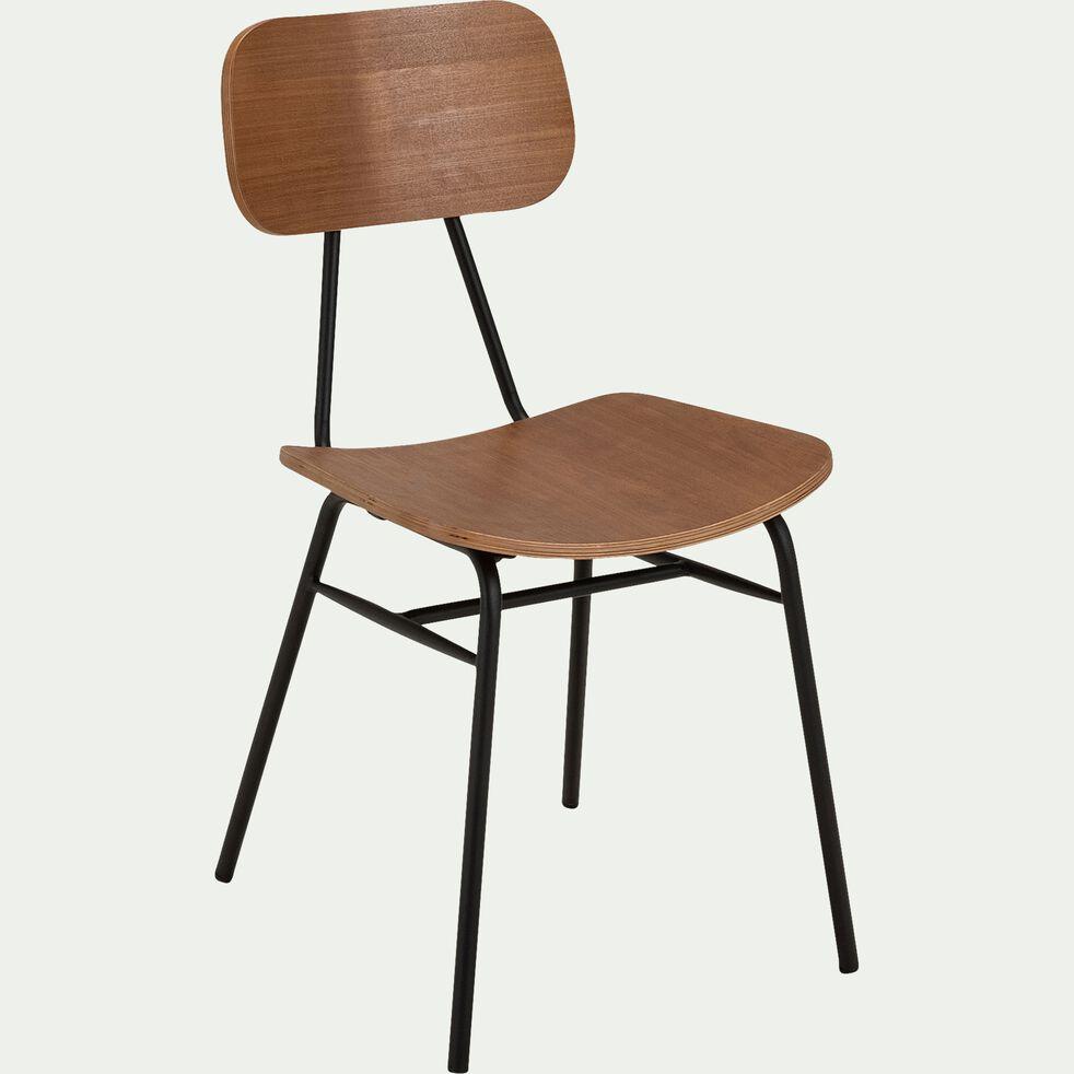 Chaise en bois de frêne et acier - naturel-LORA