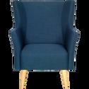 Fauteuil en tissu bleu-CHINON