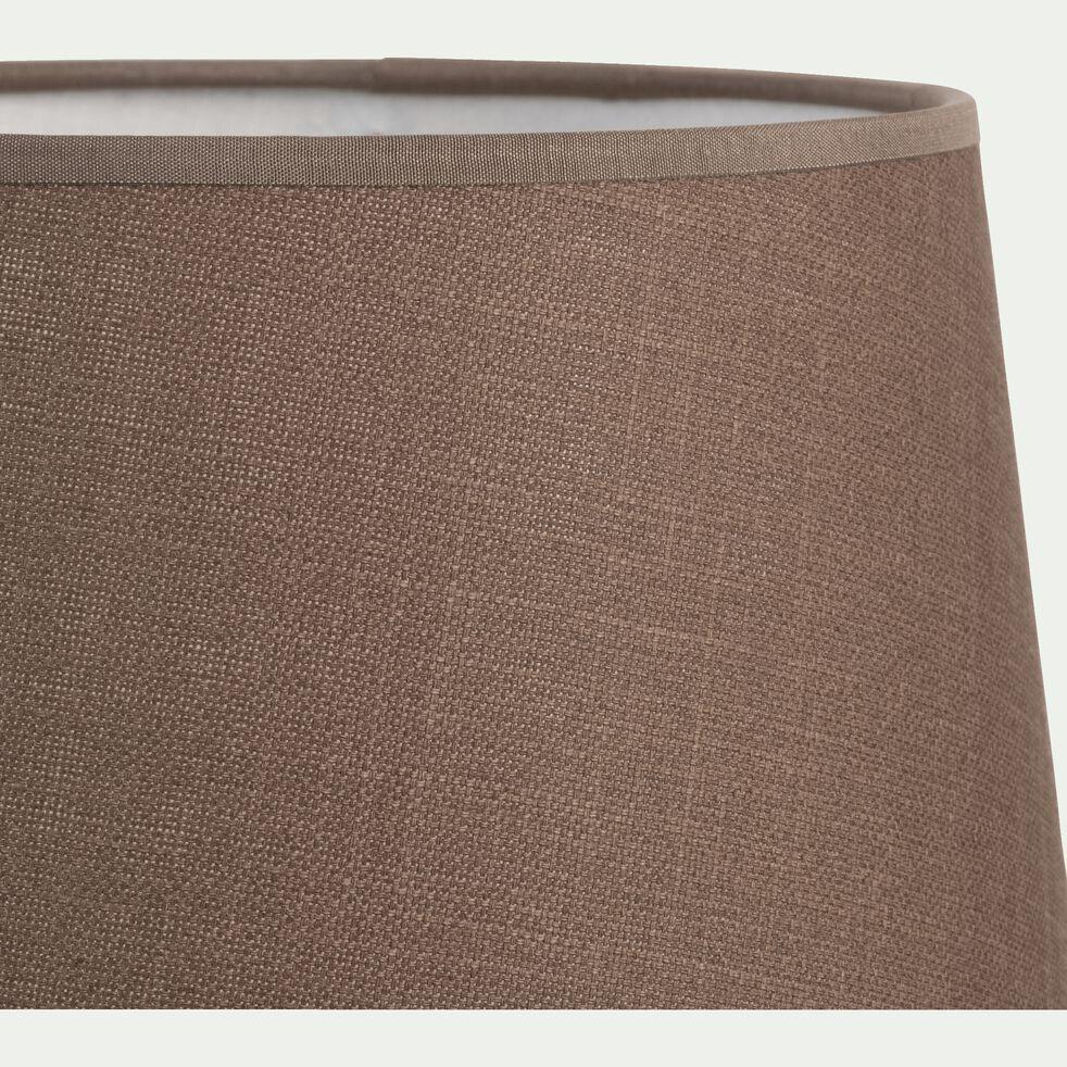 Abat-jour tambour en coton - D23cm brun châtaigner-MISTRAL