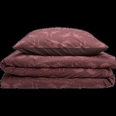 Housse de couette en percale de coton imprimé  260x240 et 2 taies d'oreillers-ATOSIA