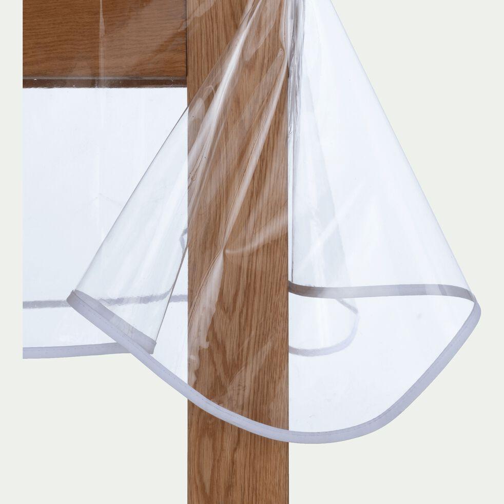 Nappe en plastique transparent 140x140cm-CLAUDIUS