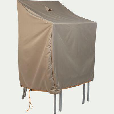 Protection taupe pour chaises de jardin empilables (L66xP66xH120cm)-Housse prot