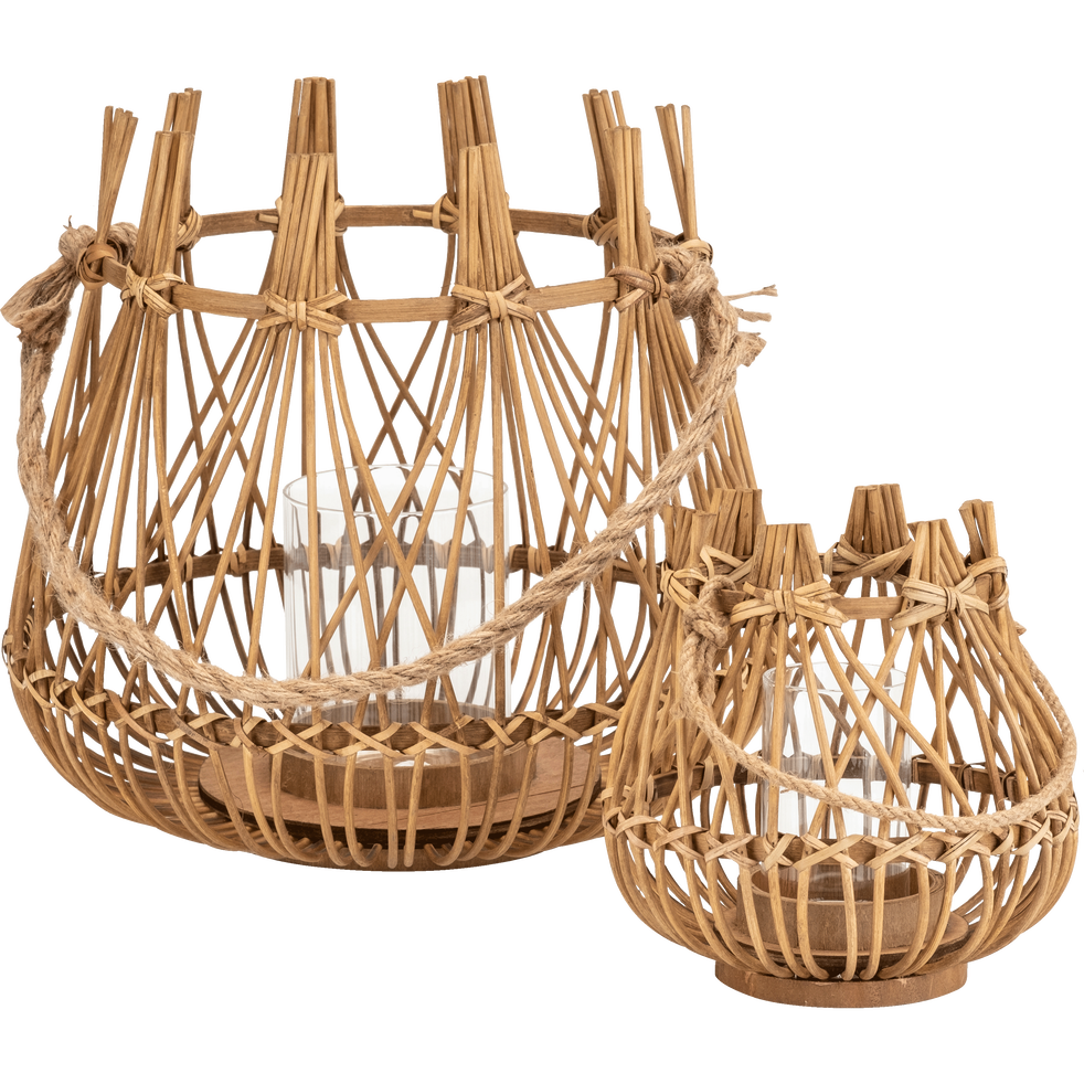 Lanterne en bambou D34xH31cm-OURGUENTCH