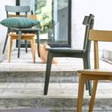 Chaise en bois vert cèdre-SUZIE