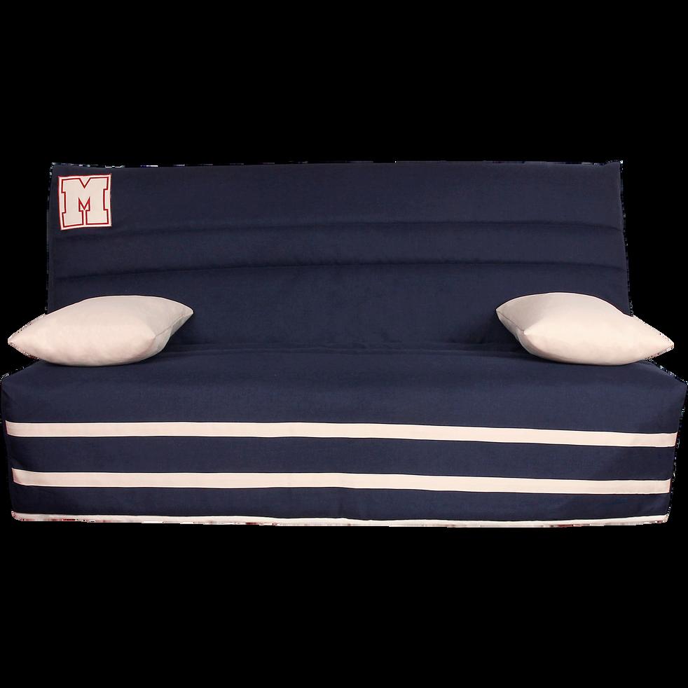 housse pour clic clac 130cm bleu marine avec poche de. Black Bedroom Furniture Sets. Home Design Ideas
