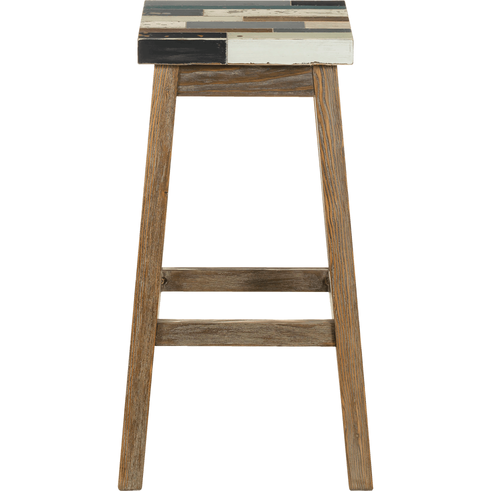 tabouret de bar en sapin massif h76cm manaka tabourets fixes hauteur bar alinea. Black Bedroom Furniture Sets. Home Design Ideas