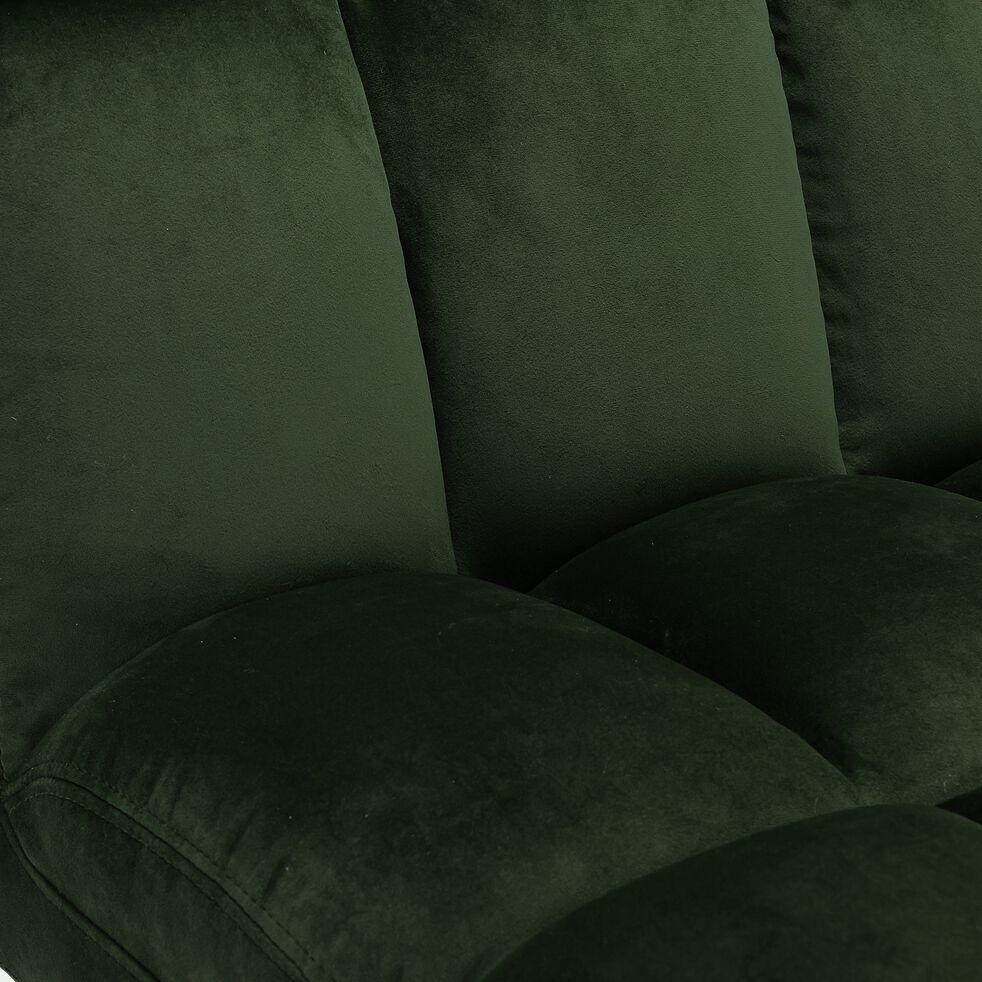 Fauteuil en velours - vert cèdre-FIGARI